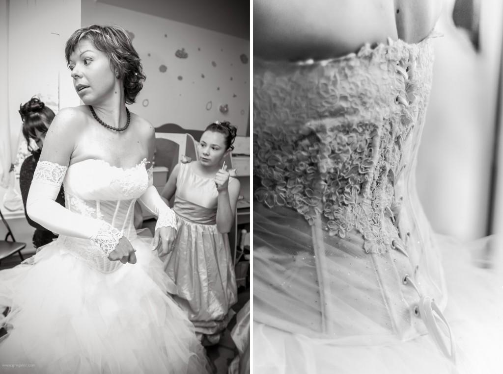préparatifs habillage mariée
