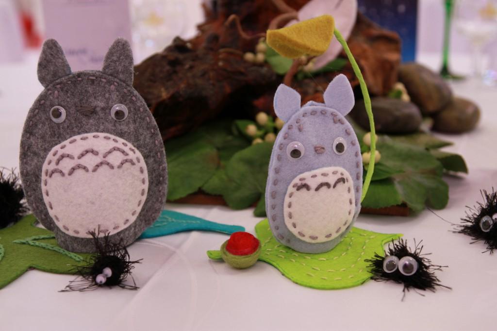Déco de table thème voyage ville de Tokyo - Totoro