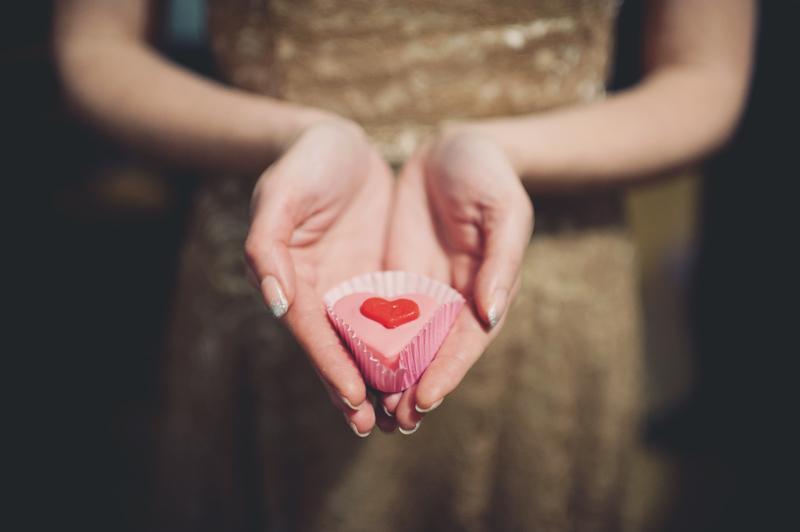 petit gâteau coeur mariage