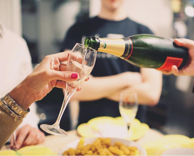 vin d'honneur au champagne mariage