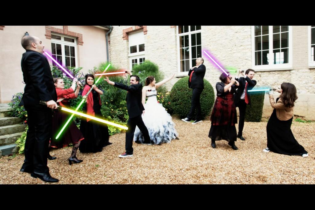 photo de groupe Star Wars