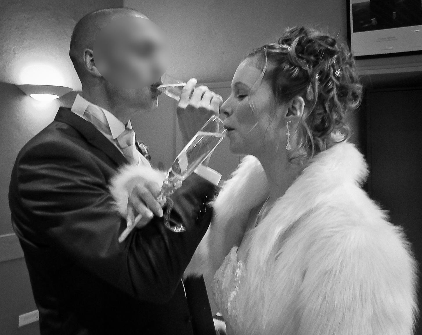 Mon mariage enneigé : champagne !