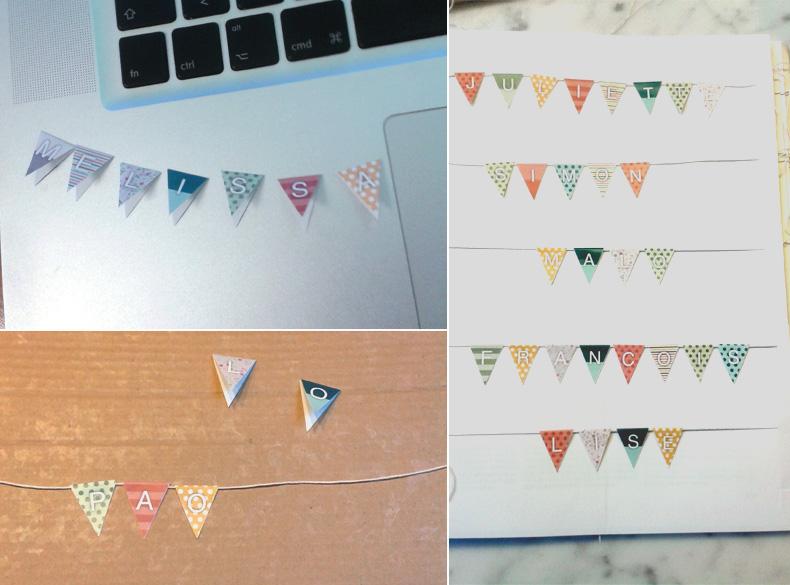 Fabriquer ses propres marque-places en forme de fanions