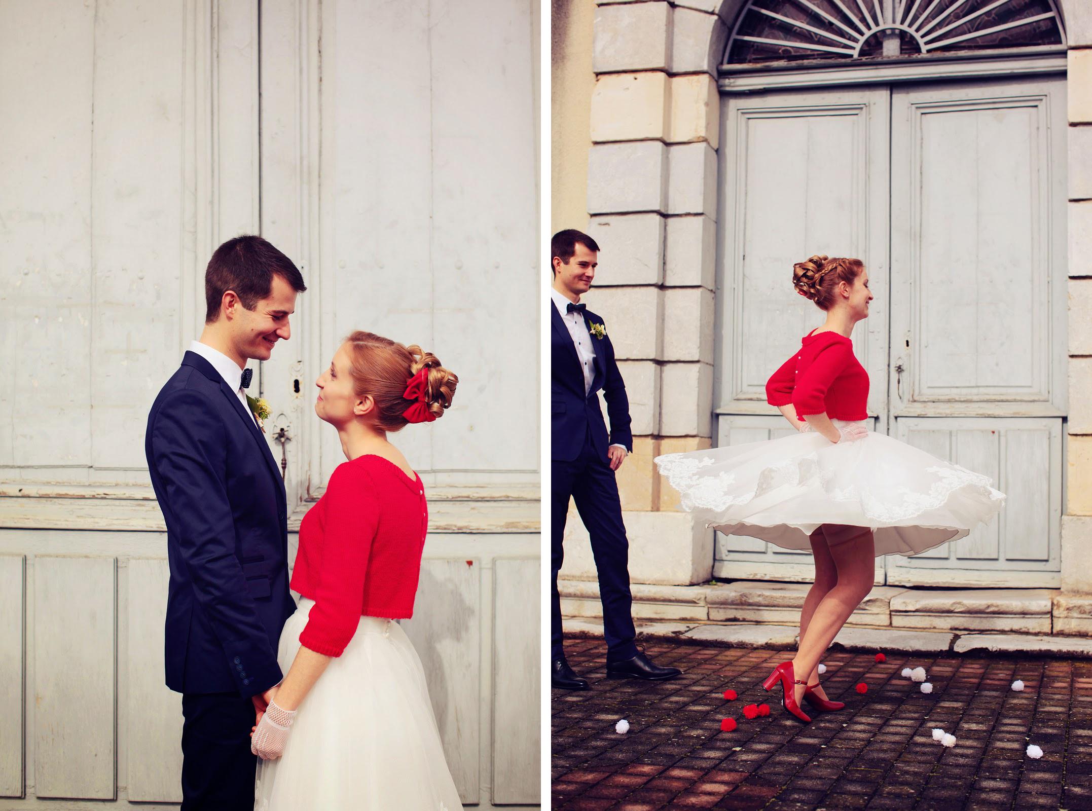 Mon Mariage Civil En Hiver Avec Une Robe Courte Mademoiselle Dentelle