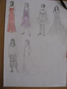 La tenue de la mariée faite maison, en famille !