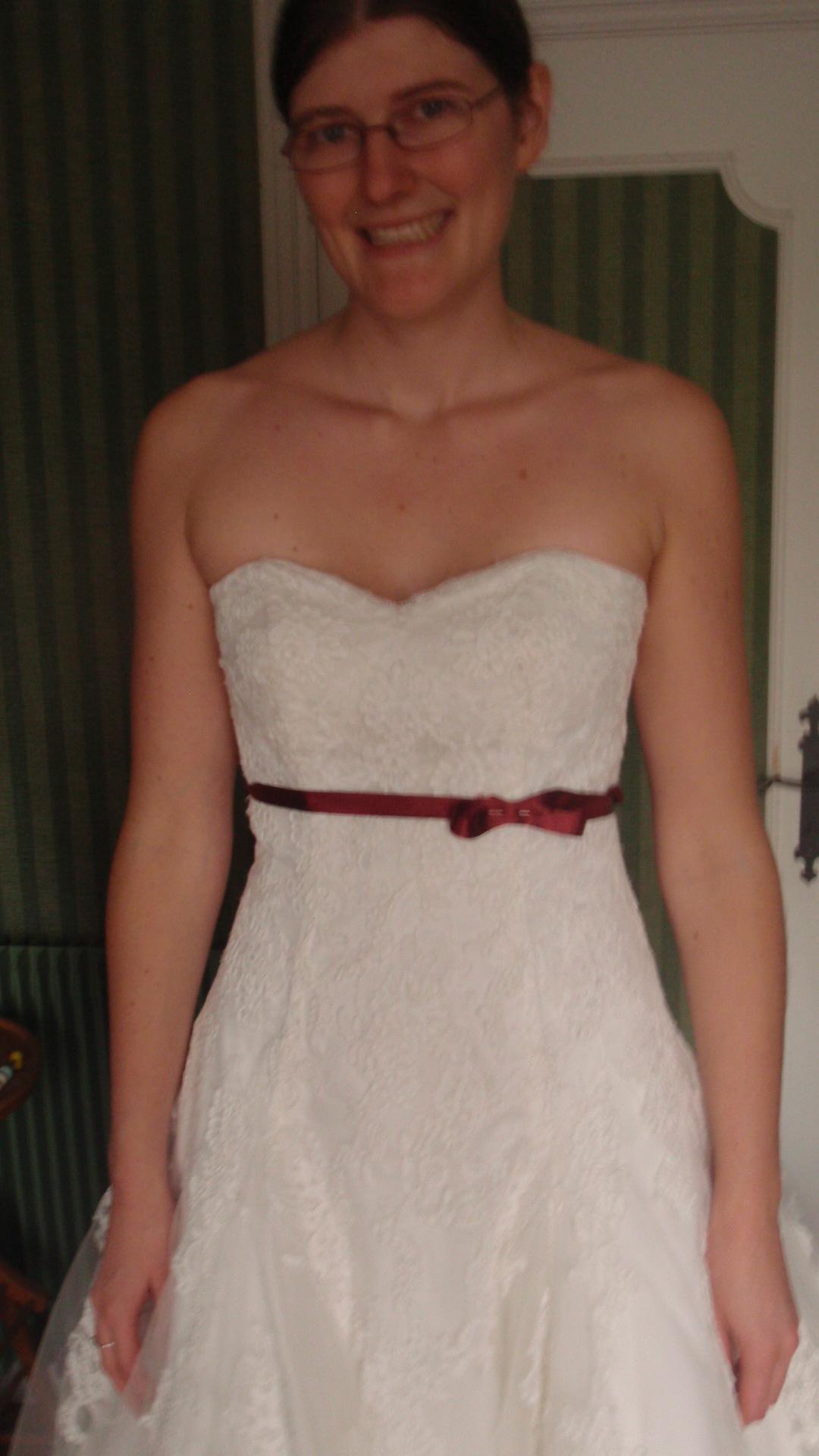 robe de mariée avec ceinture fine