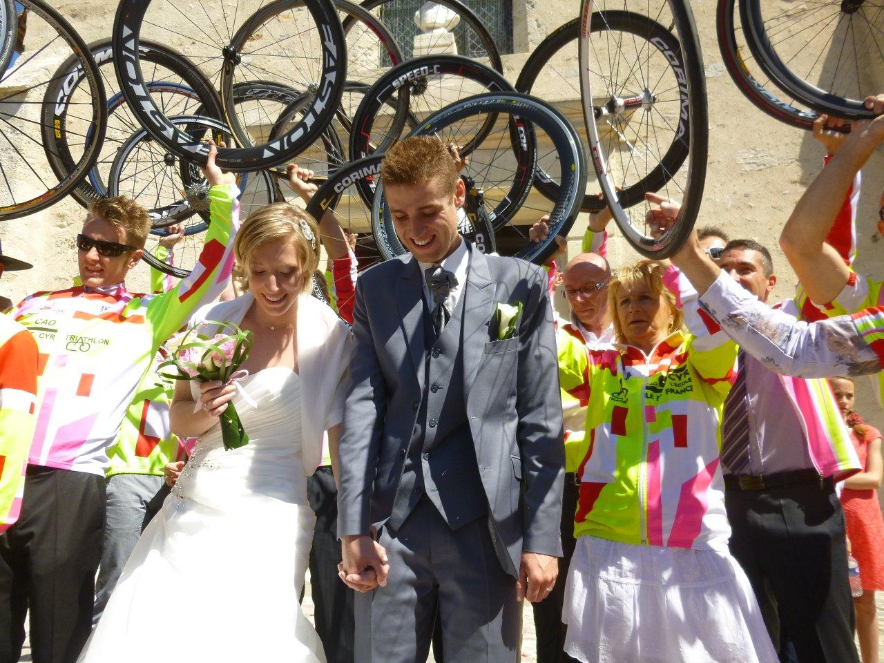 Le mariage de Coralie en rose et vert