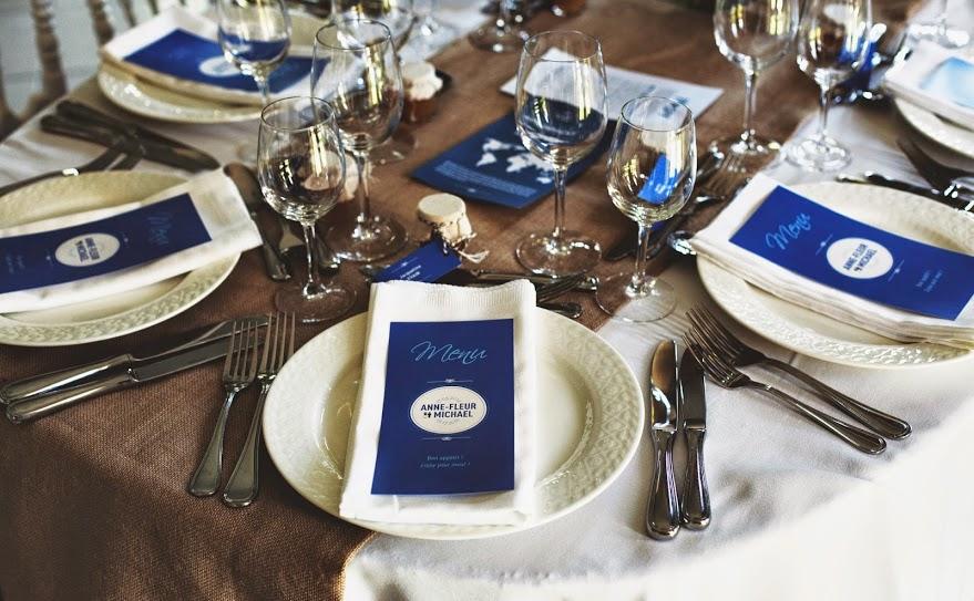 Le mariage franco-américain de Mme BZH sur le thème des voyages !