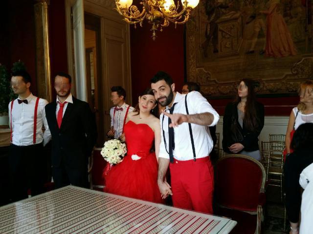 Mon mariage civil en rouge : chronique d'un jour parfait