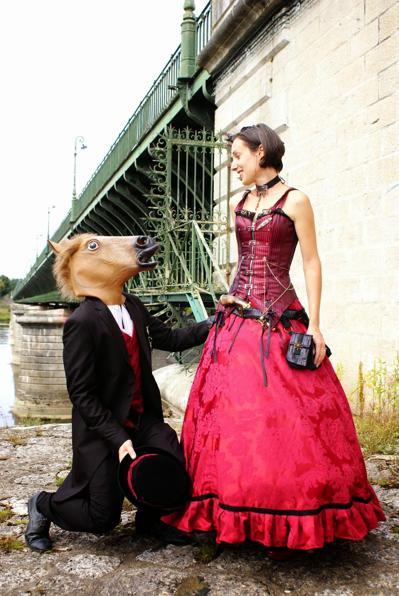 Un mariage steampunk, participatif et champêtre, avec un petit budget