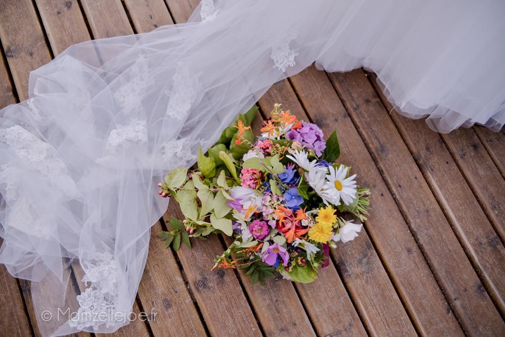 bouquet de fleurs fait maison