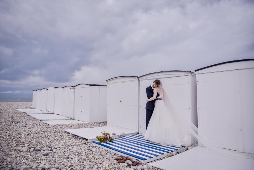 photos de mariage sur la plage du havre