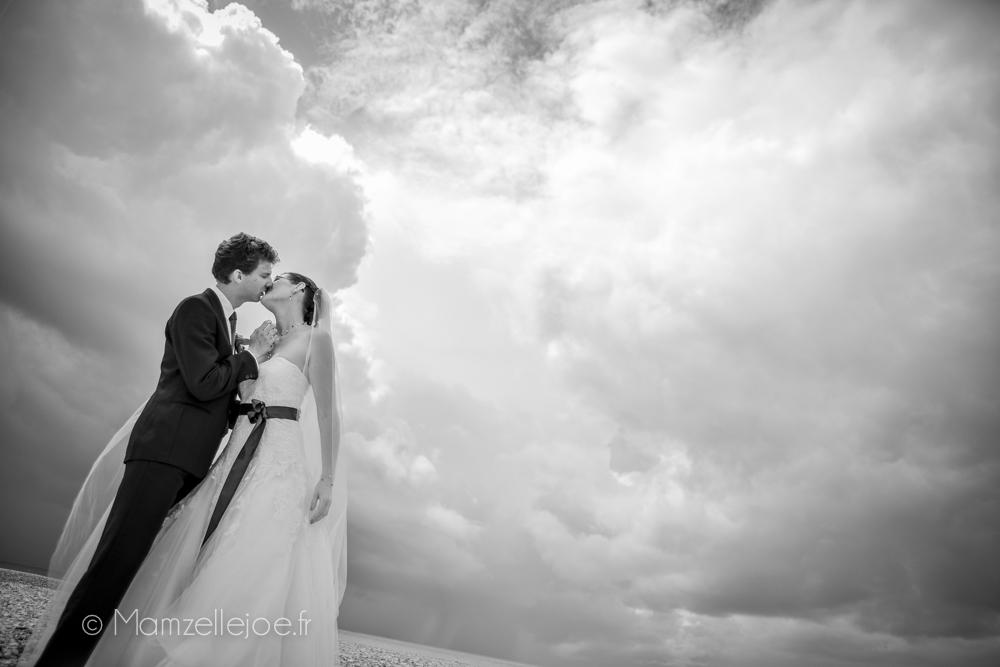 ciel dramatique pour photo de mariage