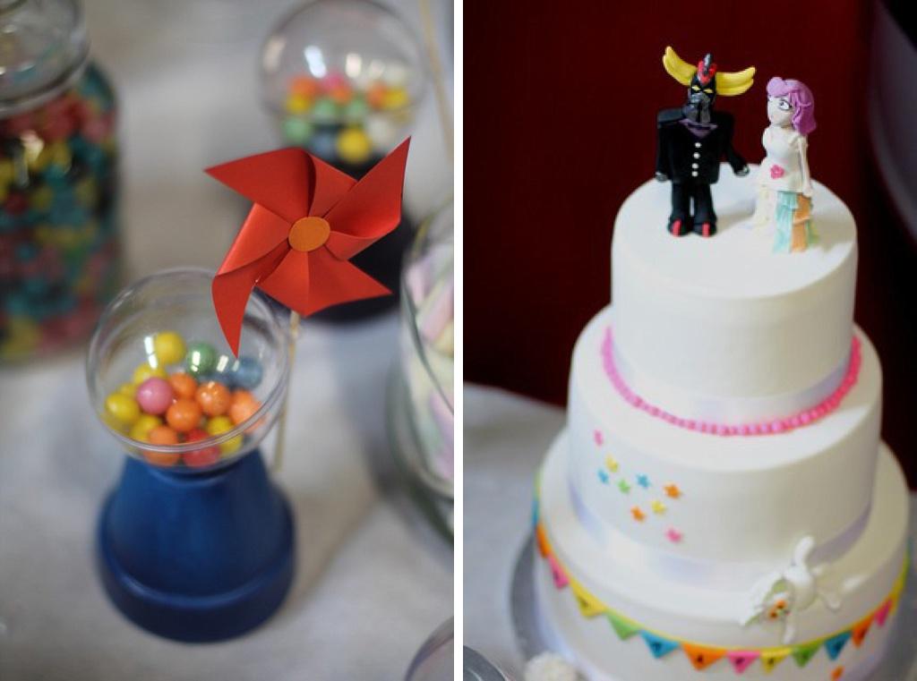 candy bar wedding cake goldorak