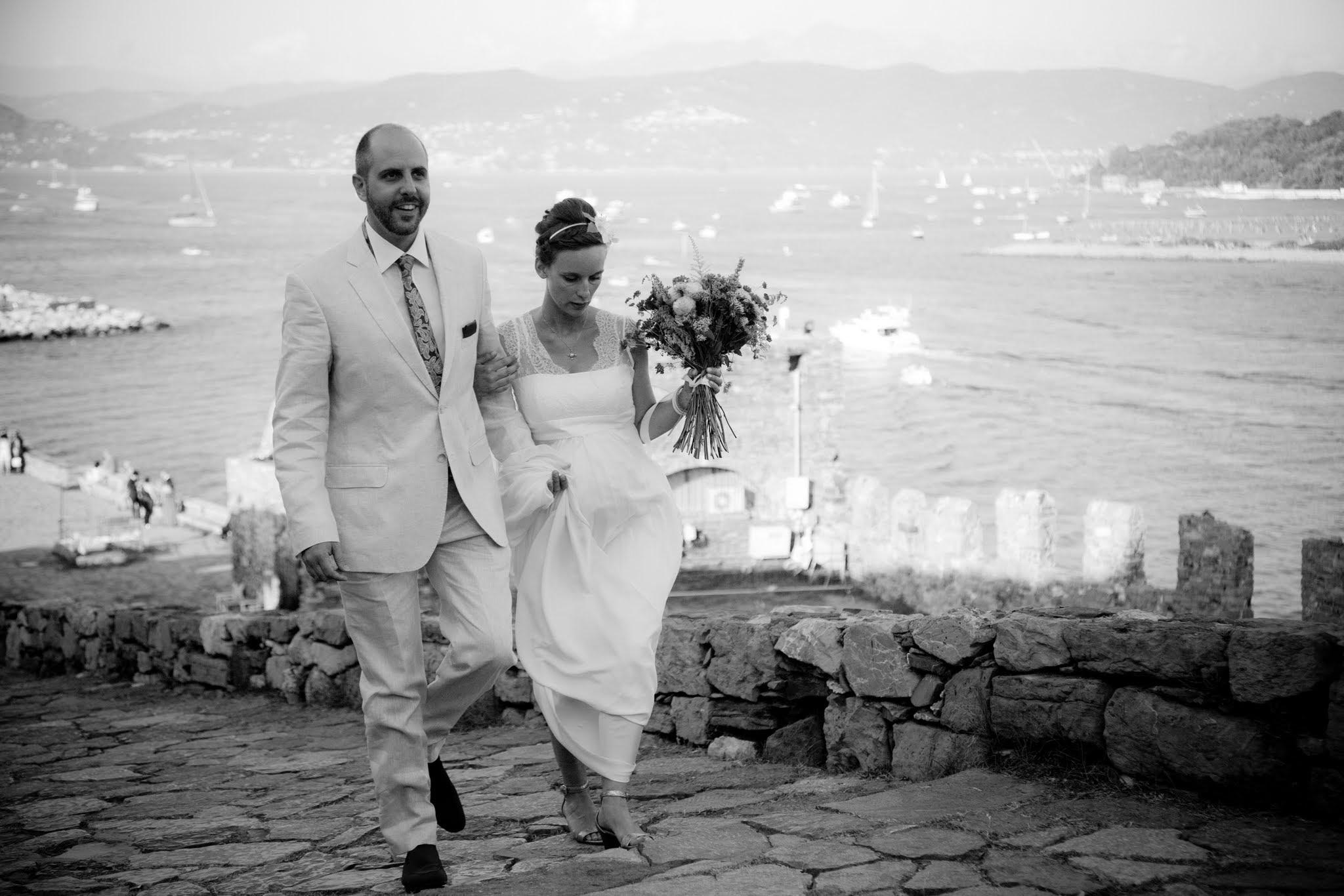 Le mariage franco-italien de Madame N. en bord de mer à Portovenere