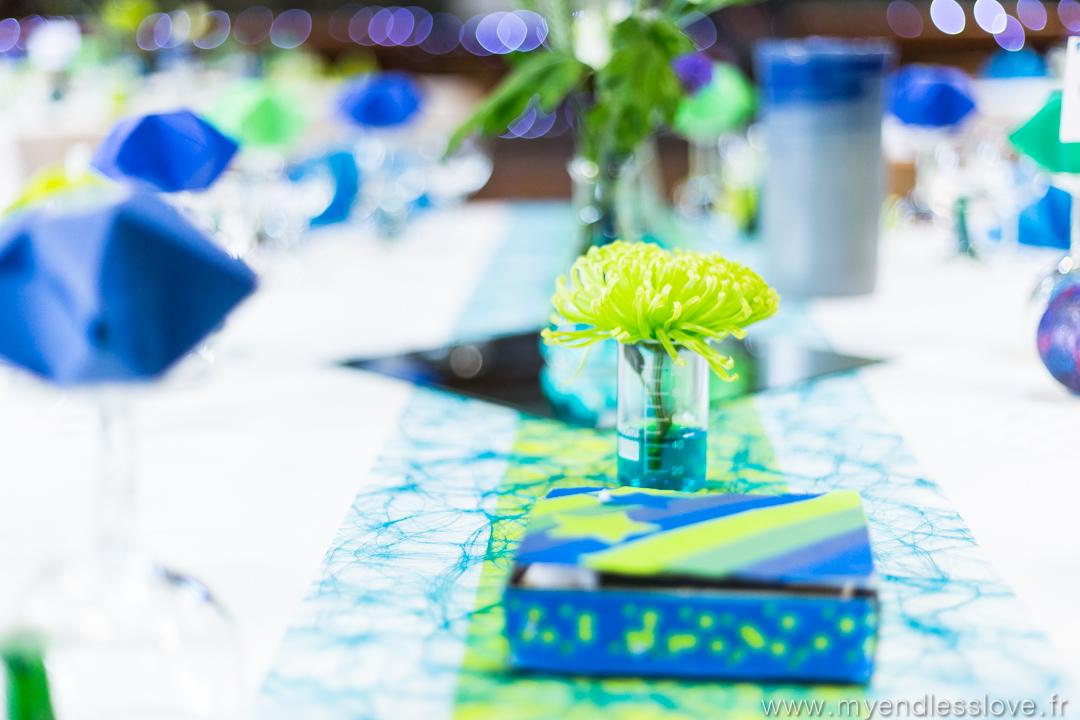 J-1 : les centres de tables de notre mariage sur le thème de la science-fiction !
