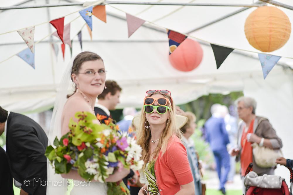 les lunettes de soleil au mariage