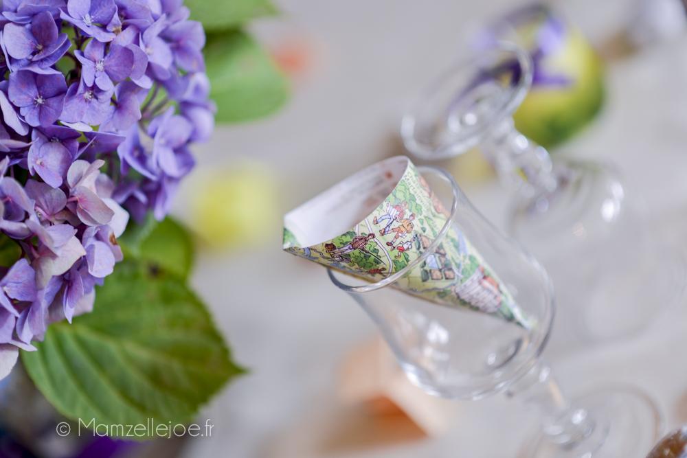 cormet à confettis dans les verres