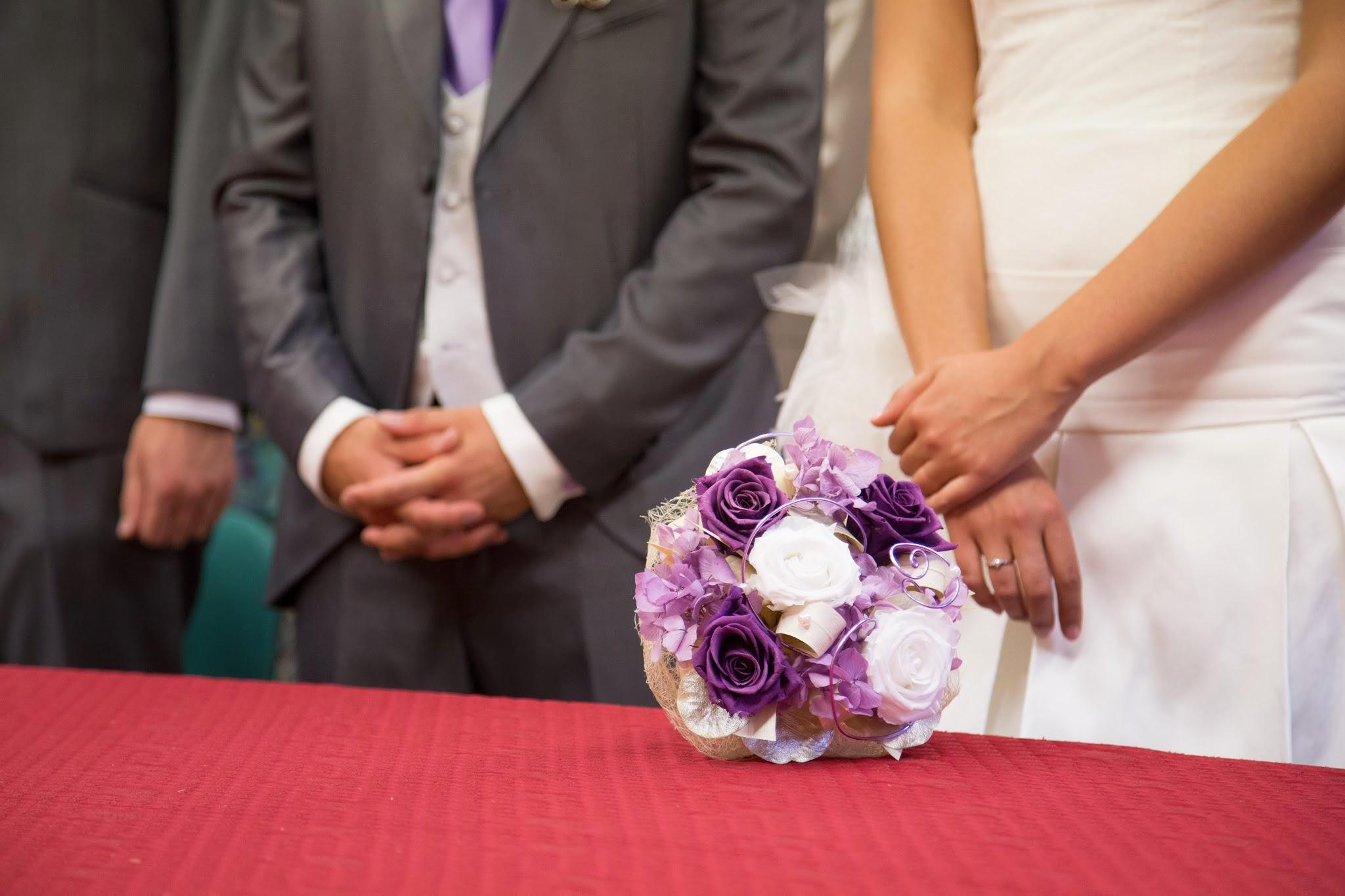 Le mariage bulles en violet et argent de Morgane