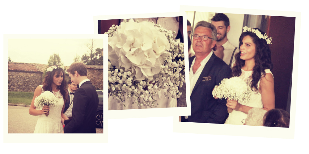 Le joli mariage champêtre de Kelly