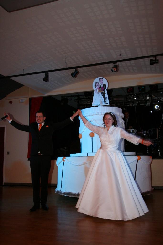 L'entrée des mariés dans la salle