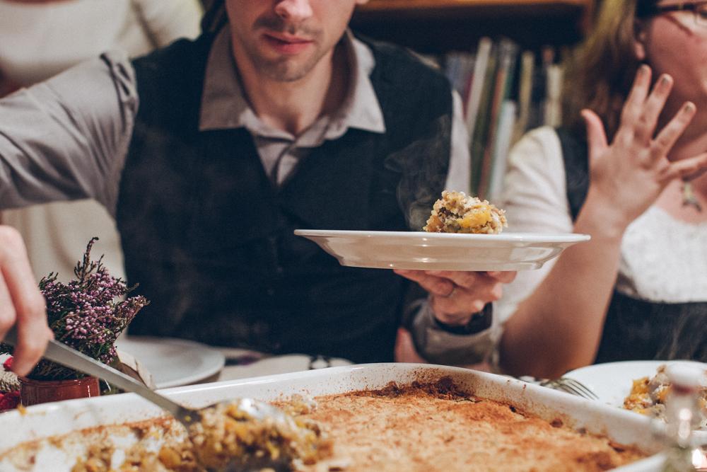 Notre mariage simple et convivial à la montagne : la soirée au gîte, côté ambiance et repas
