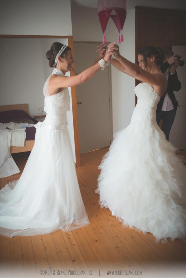 R cit et organisation d 39 un double mariage mademoiselle for Robes de mariage double baie