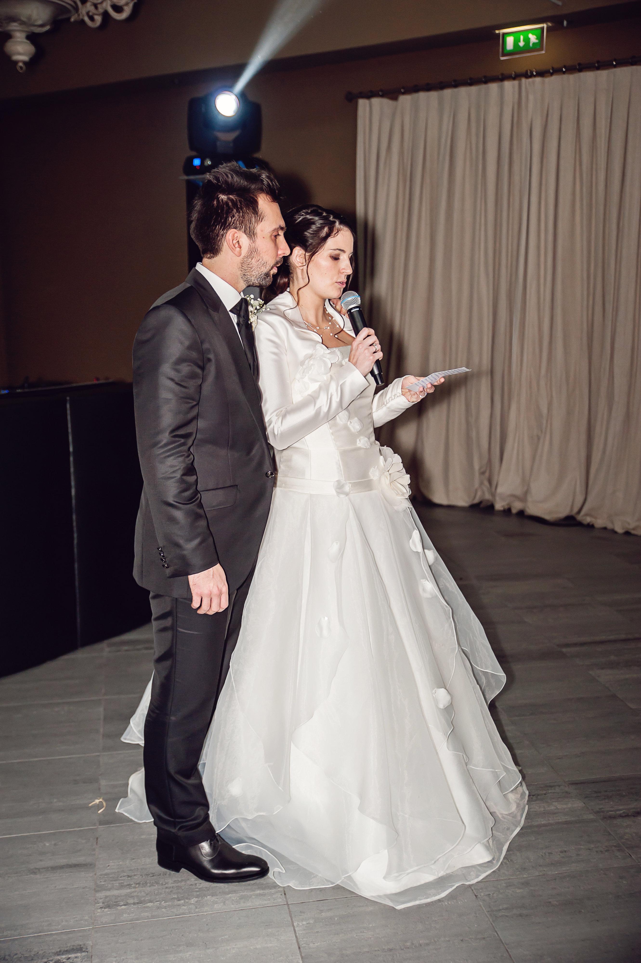Le discours des mariés