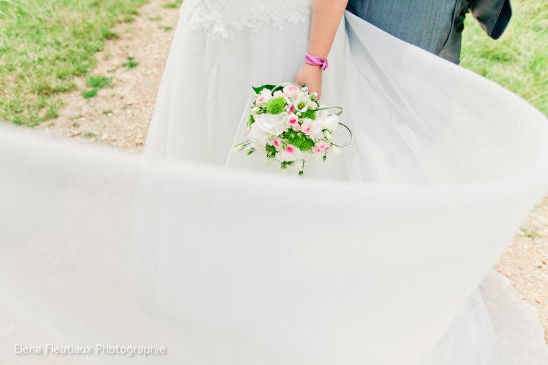 Le mariage nature, rustique-récup', d'Audrey avec une pointe de rose et de voyage