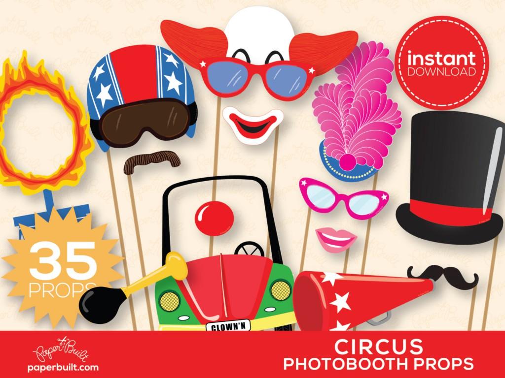 accessoires photobooth cirque