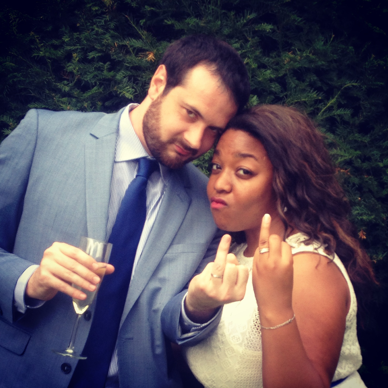 Mon mariage civil en bleu et blanc : les retrouvailles avec mon mari