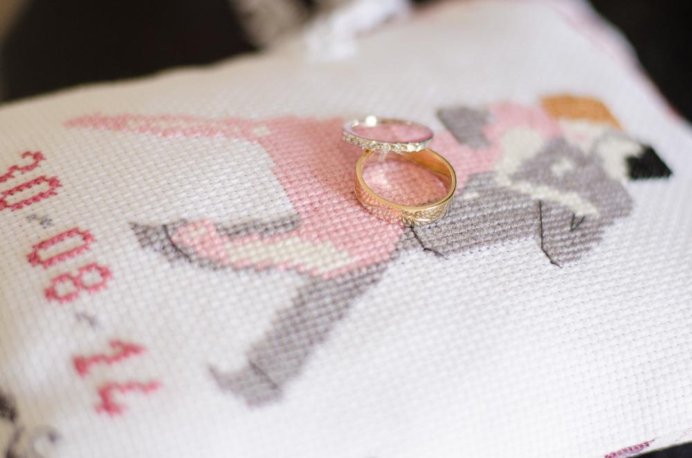 """Le mariage de Mme Valse sur le thème """"danse de salon"""", en gris et rose"""