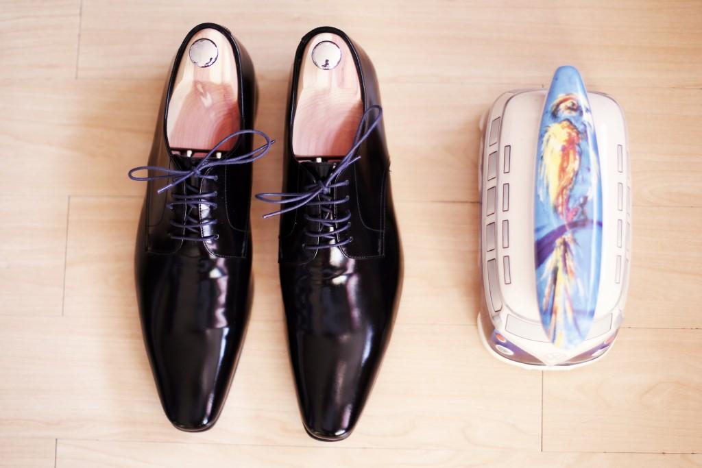 L'habillage de Monsieur le jour J / Chaussures Paul Smith
