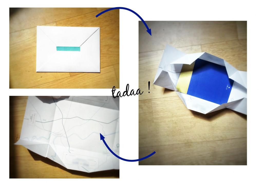 Enveloppes personnalisées mariage Monsieur & Mlle Pattern