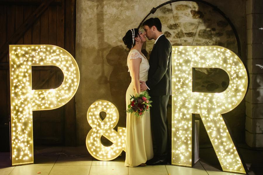 """Le joli mariage de Mme Paillette avec une touche """"geek et princesse"""""""