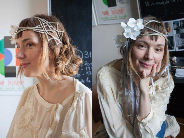 DIY : une couronne de mariage fleurie