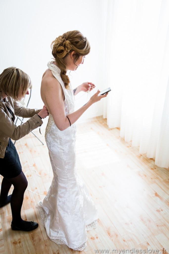 L'habillage de la mariée // Photo : My Endless Love