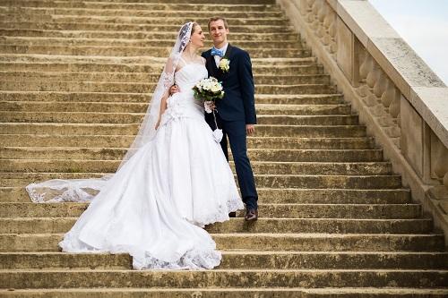 Nos photos de couple devant l'Observatoire de Meudon // Photo : Edouard Gasche
