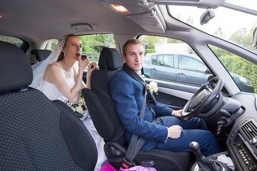 En route pour nos photos de couple // Photo : Edouard Gasche