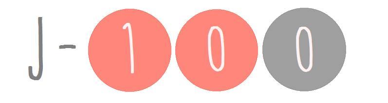 Décompte du mariage : J-100 pour Mlle Peps !