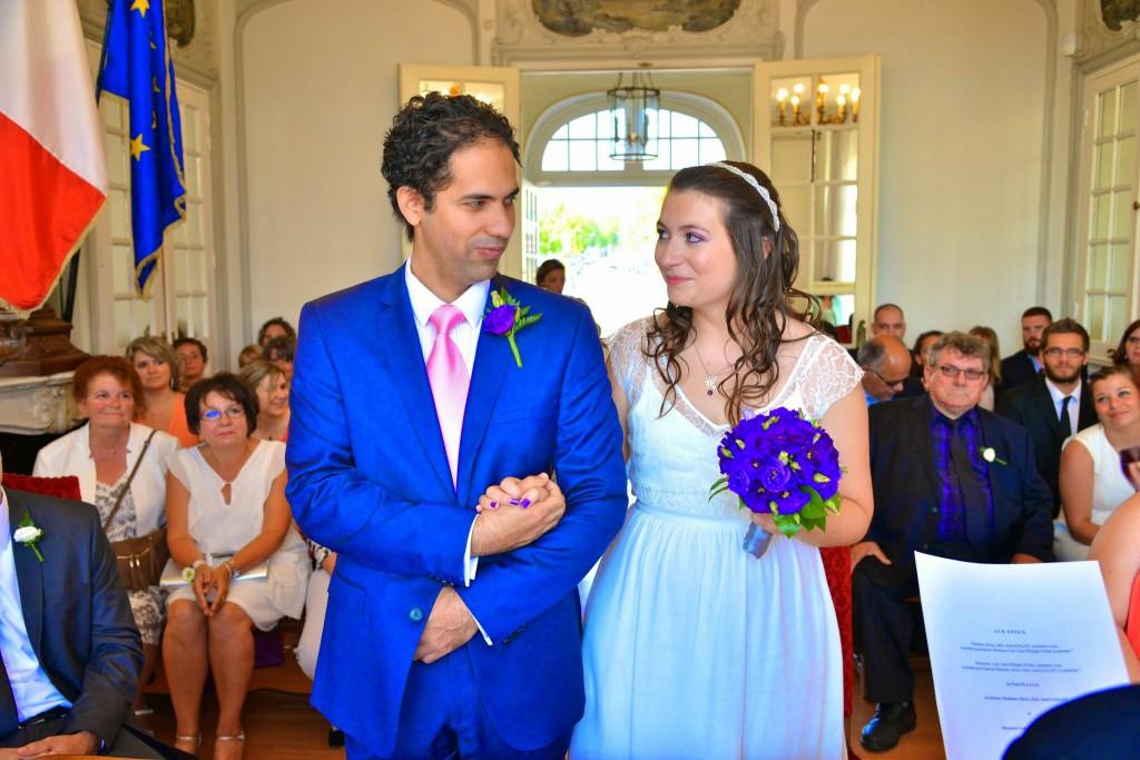 Le mariage de Mme Potter sur le thème des oiseaux en violet, blanc et argent (8)