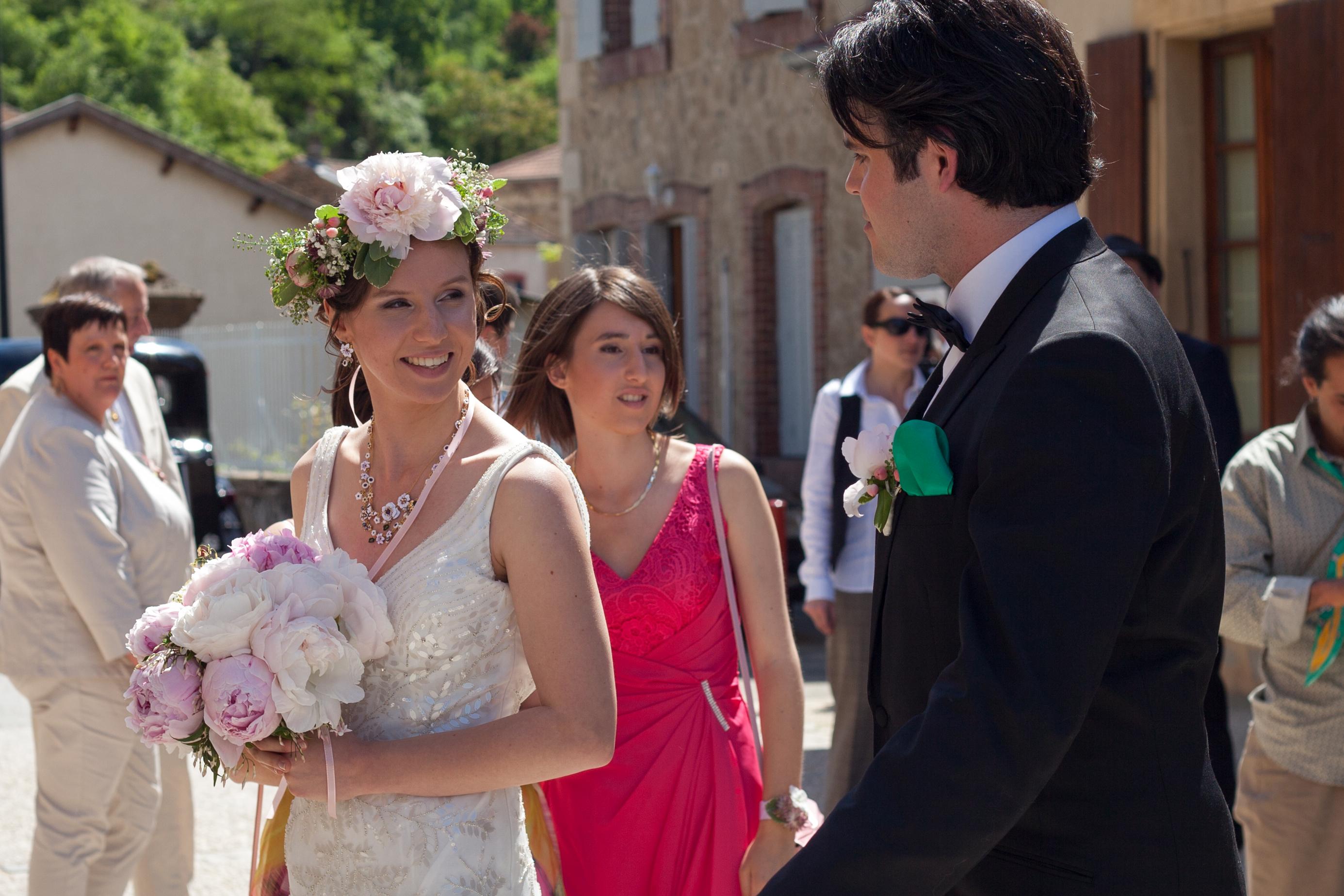 Le mariage de printemps, romantique et floral, de Mme la Rose