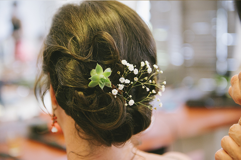 coiffure mariée chignon champêtre