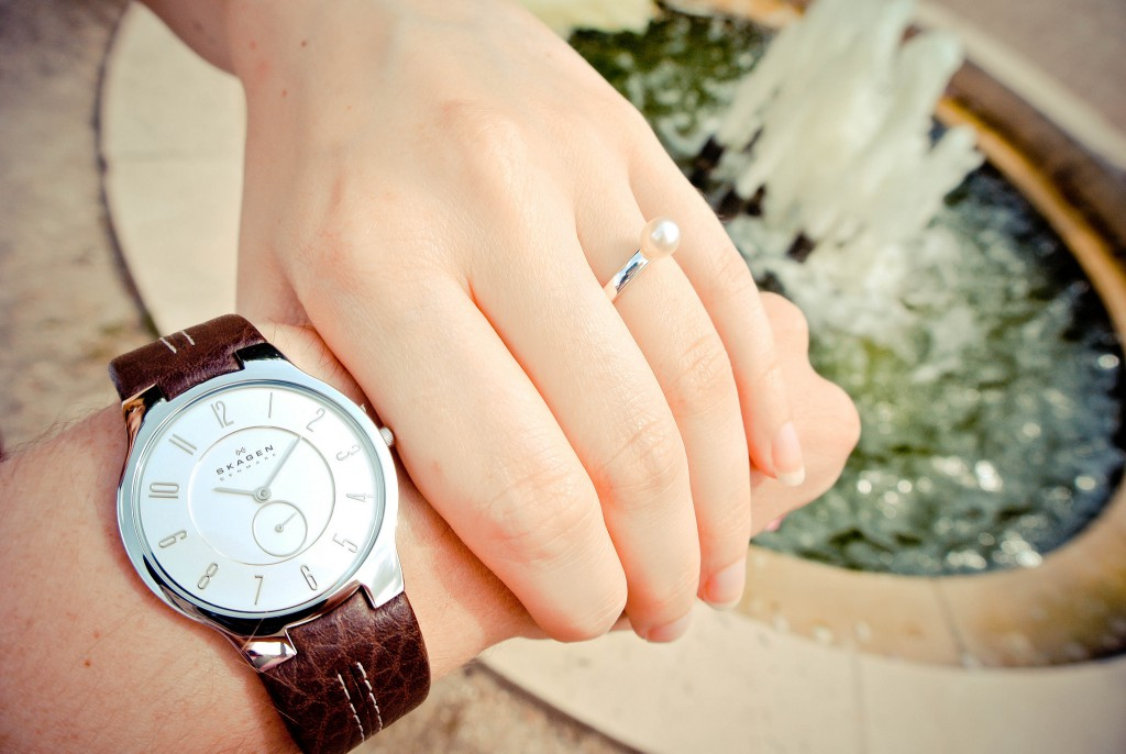 bague et montre de fiançailles