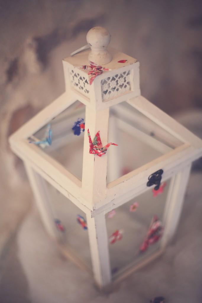 Détail de notre décoration de mariage sur l'urne // Photo : Babouchkatelier