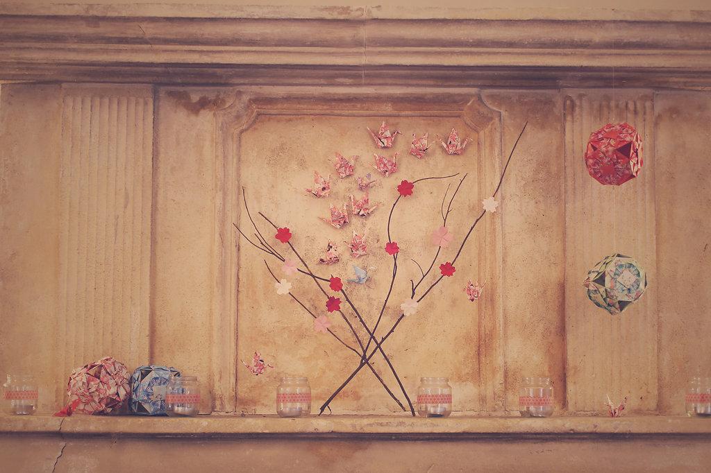 Mon mariage en hiver et en origami : le cocktail, sa décoration et le photobooth