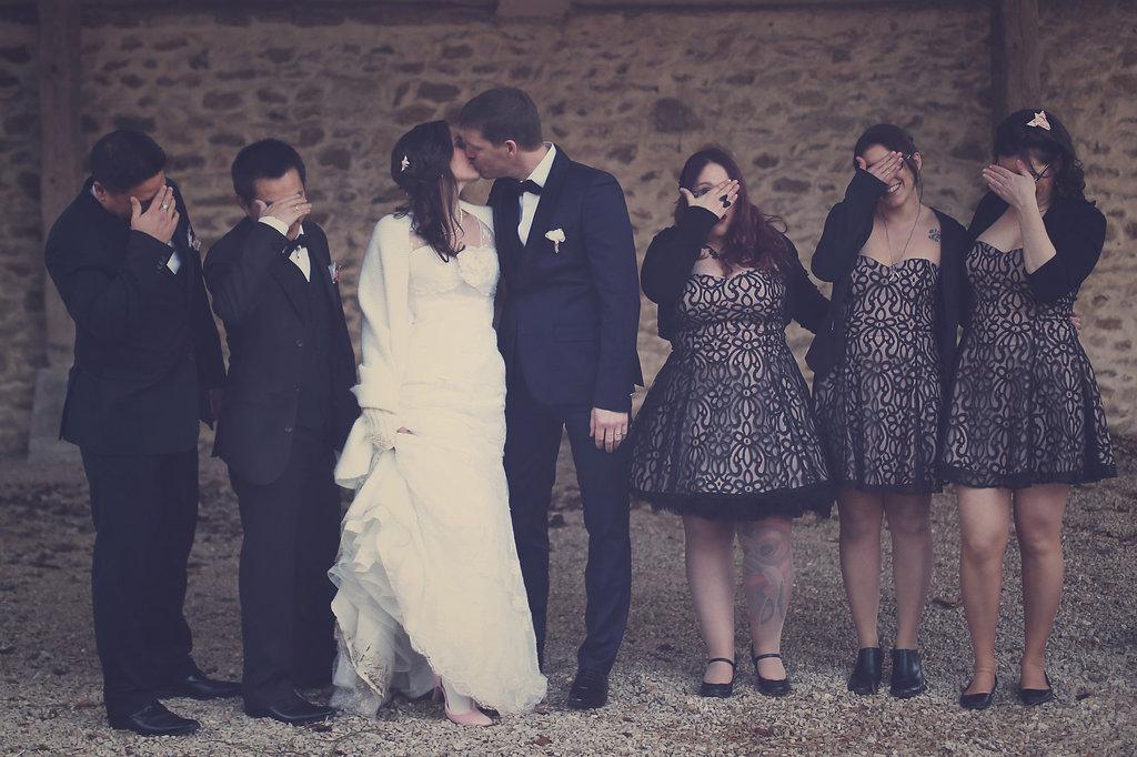 Mon mariage en hiver et en origami : les tenues de nos témoins