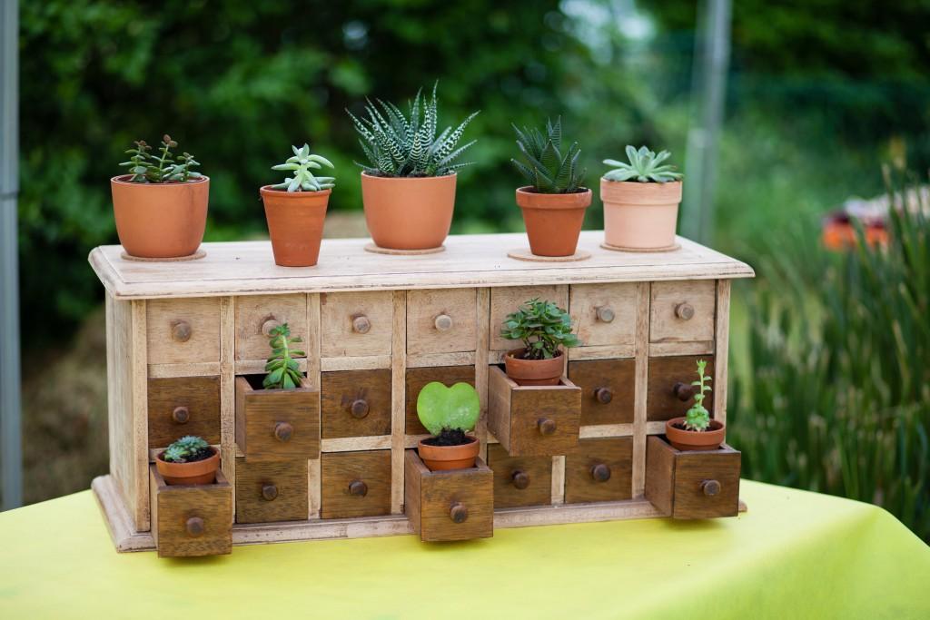 Table pour les cadeaux d'invités // Photo : Julia Lorber Photography