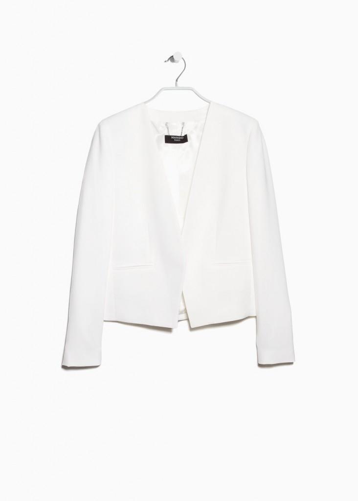 Une petite veste blanche Mango pour accompagner ma robe !