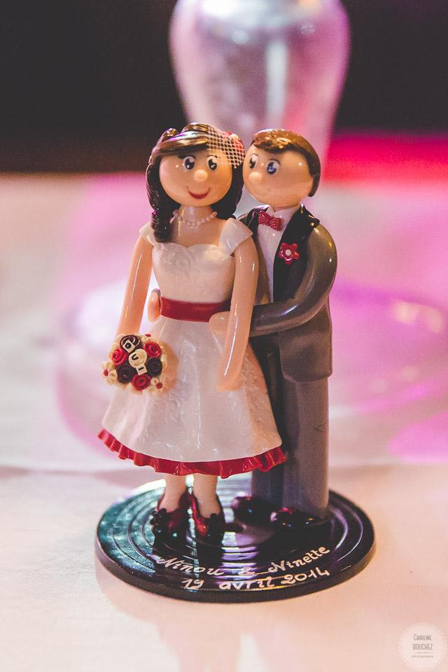 Figurines personnalisées / Cake topper Flo et Merveilles // Photo : Caroline Bouchez
